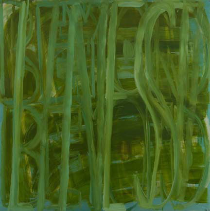 "DANA FRANKFORT LINES 2006 Oil on canvas on panel 60""x60"""