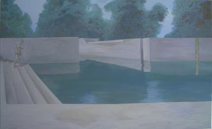 PETER BUSCH Hochwasser 2006 Acrylic on canvas 35 1/4 x 59 inches
