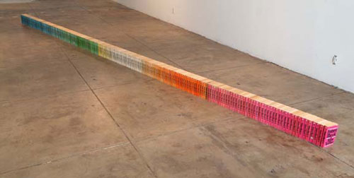 JOSHUA CALLAGHAN Lots of Future Shock, 1995-2007 Books 7 inches x 4 inches x 28 feet approx.