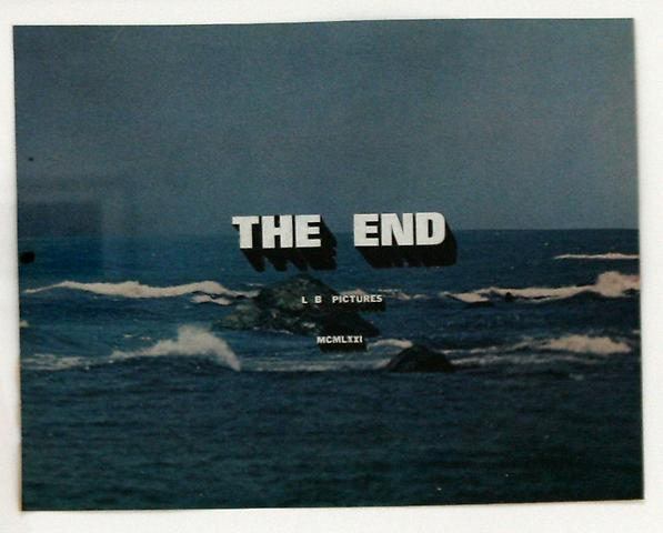 Luke Butler The End 48, 2010 Collage 10.25 x 7.75 inches; 14.5 x 12 inches (framed)
