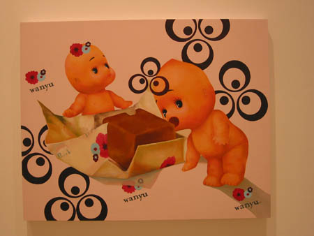 """Share"", 2003 Oil and acrylic on birch wood. 28 x 35 inches"