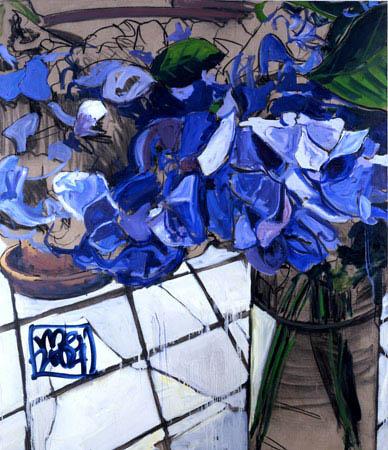 """""""Hydrangea"""" 84 x 72 inches 2004"""