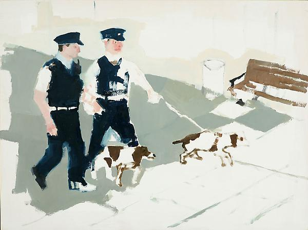 "Hound Dogs, 2010 Oil on panel 12"" x 16"""