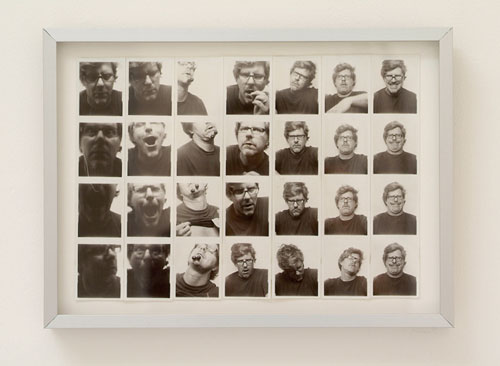 MARK GROTJAHN Untitled (Self-portrait for Andy Warhol) 7 strips, 28 photographs 9 3/4 x 11 1/4 inches Courtesy of the artist and Blum and Poe Gallery