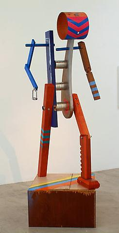 JASON MEADOWS I sing the Body Electric, 2007 Wood, hardware, cans, aluminum, steel, plastic, paint 93 1/2 x 32 x 30 1/2 inches Courtesy of the artist and Marc Foxx Gallery