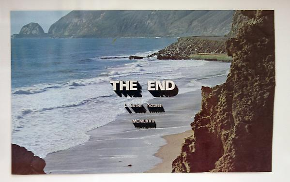 Luke Butler The End 47, 2010 Collage 8.5 x 5 inches; 12.75 x 9.5 inches (framed)