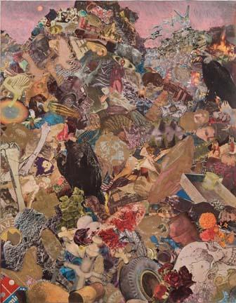 AARON MORSE Landfill, 2007 Acrylic, watercolor, collage on paper 31 x 24 inches