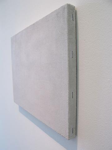 Quentin Curry Canvas 1 (primed) (detail), 2010 Oil/stonedust on panel