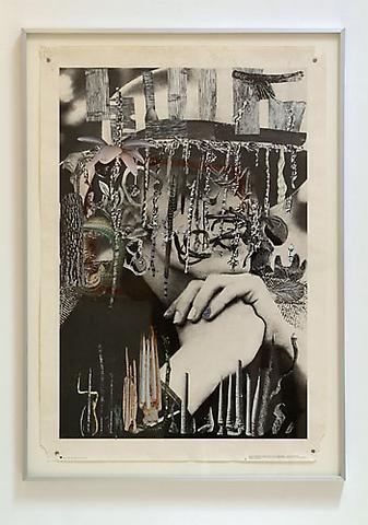 BRIAN BRESS D. B., 2007 Collage on poster 27 x 37 Courtesy of the artist and Kantor / Feuer Gallery
