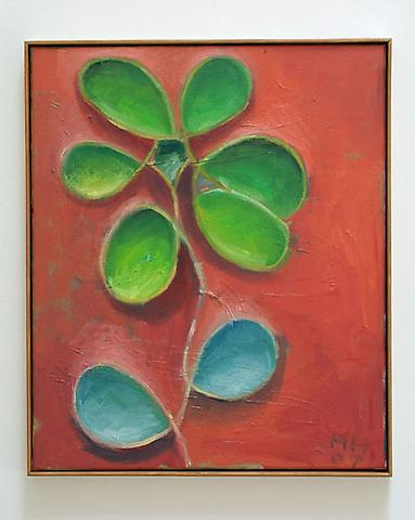 ANTON HENNING Blumenstillenben No. 63, 2007 Oil on canvas 23 1/2 x 19 3/4 inches Courtesy of the artist and Christopher Grimes Gallery
