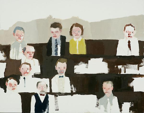"Audience, 2010 Oil on canvas paper 11"" x 14"""