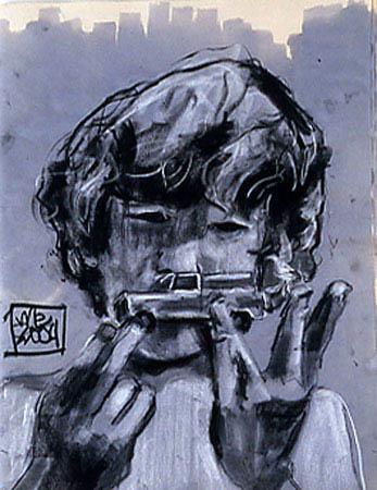 """""""Self Portrait"""" 40 x 30 inches 2004"""
