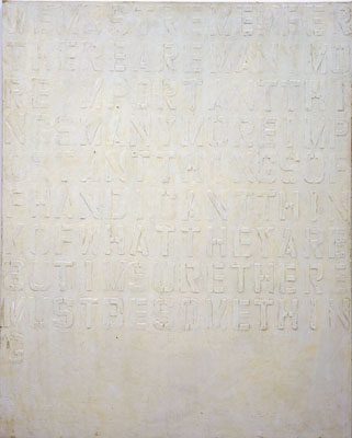 "NINO MIER ""We Must Remember…"" 60 x 48 inches Liquid latex and enamel on canvas 2004"