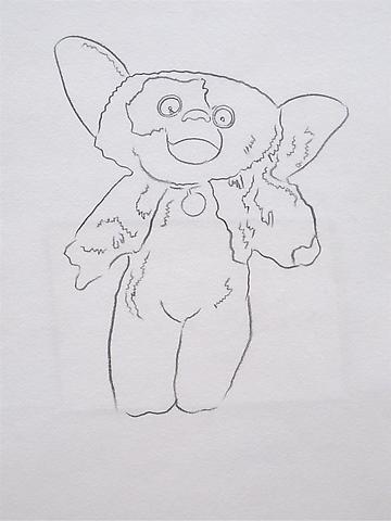 Gremlin, 1986 Graphite on HMP paper 31 5/8 x 24 inches