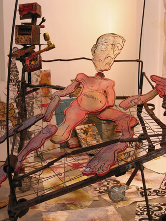 Transition, 2003 Mixed media. 12- 73 x 57 inches 13- 47 x 130 x 72 inches 14- 69 x 58 inches