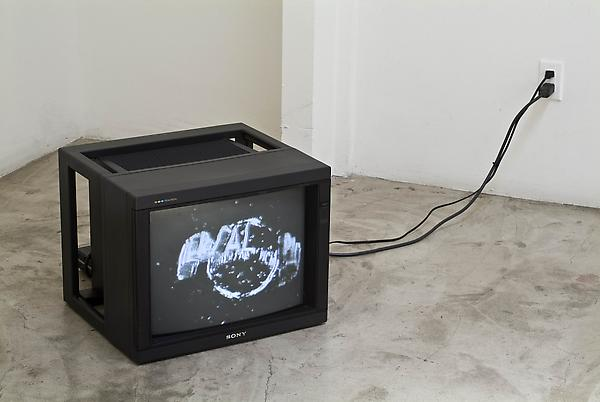 Steven Parrino Black Planet Magnetic Distortion, 2004 B&W, silent, VHS transferred to DVD Infinite loop Private collection