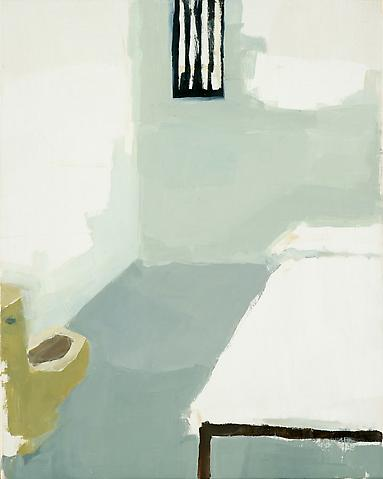 "Jail Cell (yellow toilet), 2010 Oil on panel 10"" x 8"""