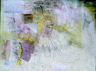 TIM LOKIEC Adult Crash 2006 mixed media on paper 38 x 50 inches