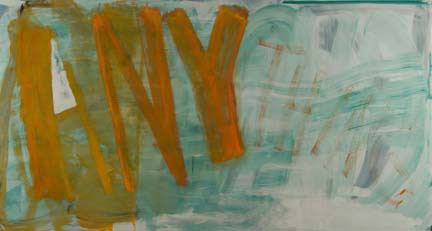 "DANA FRANKFORT ANYTHING 2006 oil on canvas on panel 45""x84"""