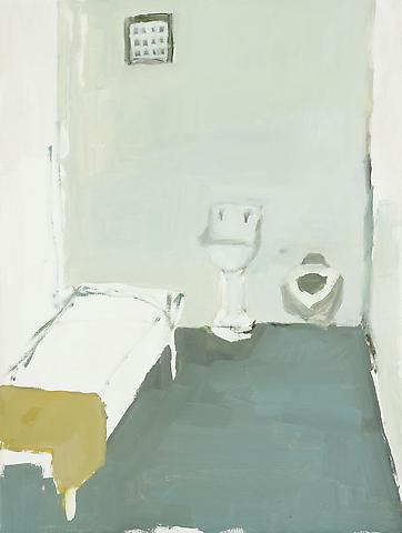 "Jail Cell, 2010 Oil on panel 12"" x 9"""