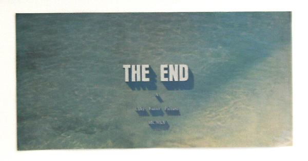 Luke Butler The End 42, 2010 9.5 x 4.5 13.5 x 8.75 inches (framed)