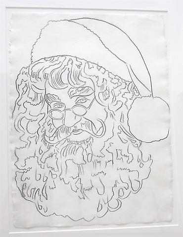 Santa Claus, 1981  Graphite on HMP paper 31 1/2 x 23 1/4 inches
