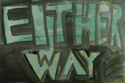 DANA FRANKFORT EITHER WAY 2006 Oil on panel 2'x3'