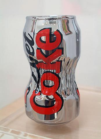 MATT JOHNSON diet coke, 2006 Chrome plated bronze, enamel 5 x 2 1/2 x 2 1/2 inches Edition AP 4/5 Courtesy of the artist and Blum and Poe Gallery