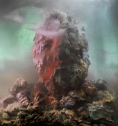 Kim Keever - Eroded Man 64b