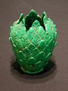 Eugene Von Bruenchenhein - Green Vase