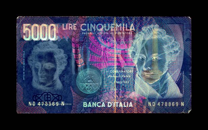 Negative Currency: 5000 Lire
