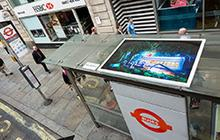 Public Exhibition at Bus Stop R / Aldwych