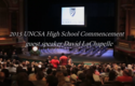 2015 UNSCA High School Commencement Address