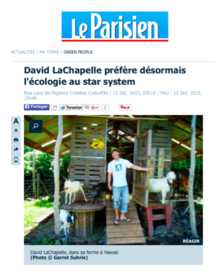 LeParisien on David LaChapelle's art and ecology