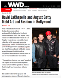 David LaChapelle and August Getty Meld Art and Fashion in Hollywood