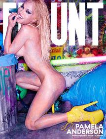 Pamela Anderson stars on the new cover of FLAUNT shot by David LaChapelle