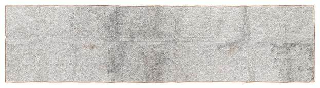 Untitled 2014 white-out,crayon,pencil drawing on found paper 121 x 408 cm