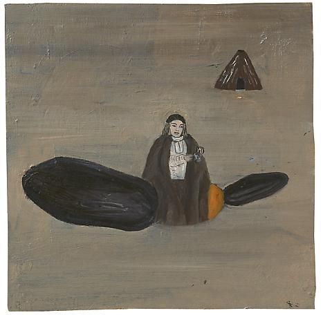 Präst 1987 oil on panel 24.5 x 24.5 cm