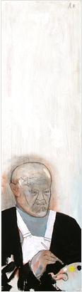 Målaren 2000 oil on wood 98 x 27 cm