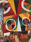 J + M = sant 1992 oil on canvas 165 x 99.5 cm