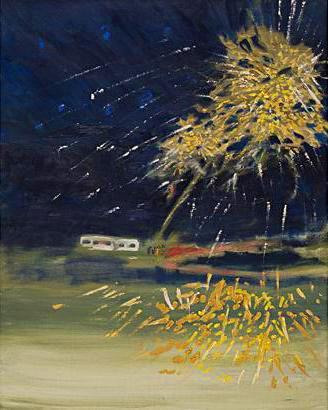 Sankt Hans Dag 2002 oil on canvas 100 x 81 cm