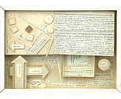 Nått av låd innehåll 1962 mixed media 22 x 30 cm