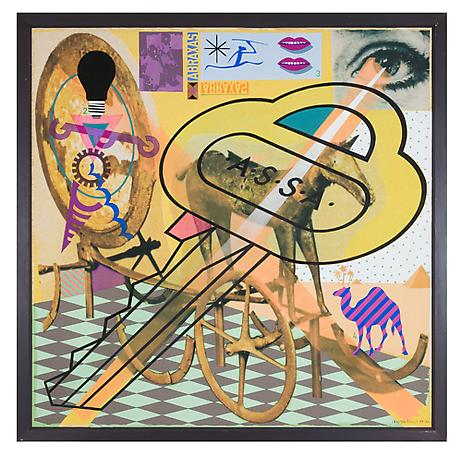 ASSA (ABRAXAS - SAXARBA) 1989 - 1990 gouache, acrylic, spray and collage on canvas fixed on panel 200 x 200 cm