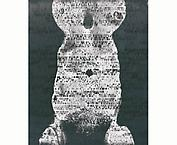 Ecce Femina-DNA somagram 1992 - 1995 bodyprint, gelatin silver photograph,  mixed media 72 x 53  cm