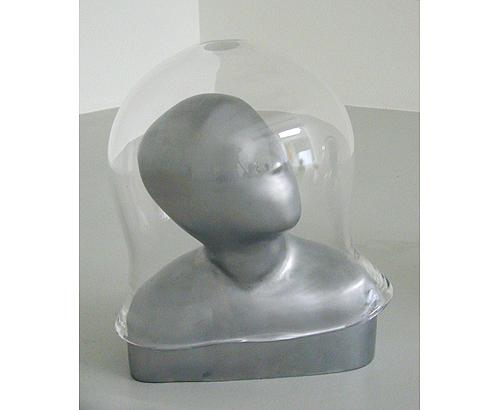 Untitled 2001 aluminum, glass h:40 cm
