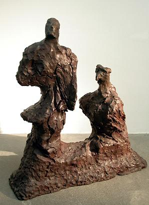 Interspecific geomorphism (Man & Bird) 2000 bronze 73 x 64 x 20 cm