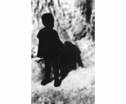 Untitled (Girl with Shadow) 2000 c-print 112 x 79 cm