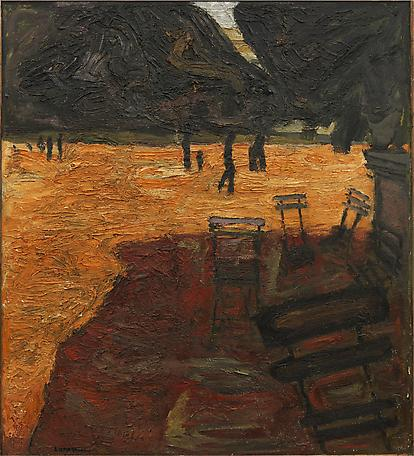 Jardin du Luxenbourg 1934 oil on Canvas 137 x 125 cm