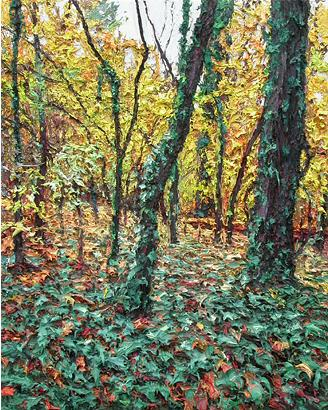 Carpet of Vines  2005 oil on wood panel 51 x 40.5 cm