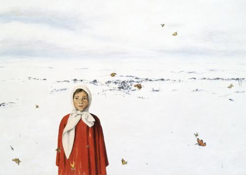 Övervintrare 2008 oil on canvas 170 x 240 cm